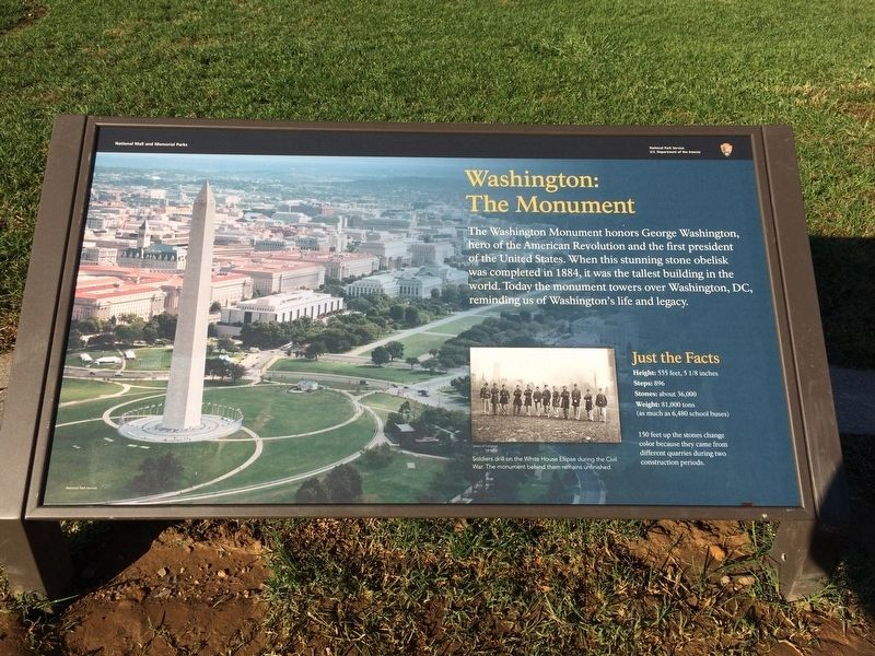 Washington: The Monument Marker image. Click for full size.