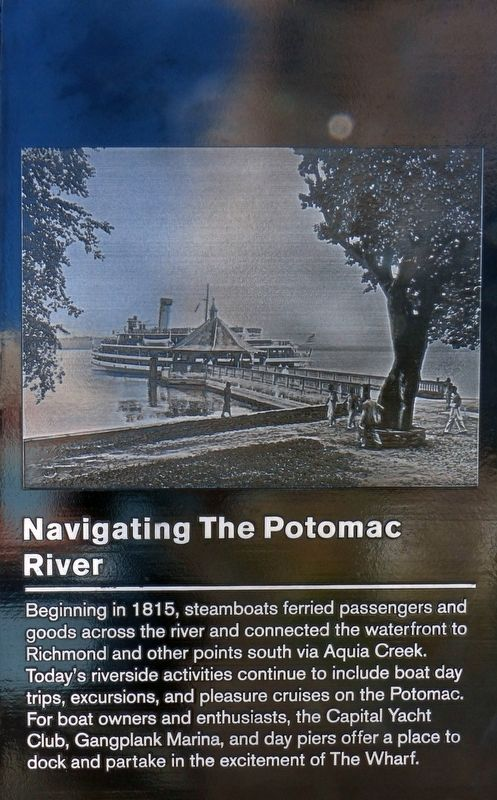 Navigating the Potomac River Marker image. Click for full size.