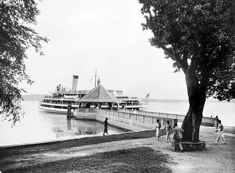 Steamboat at the Wharf, Mount Vernon, Virginia<br>c. 1936 image. Click for full size.