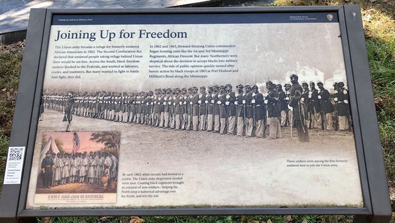 Joining Up for Freedom Marker image. Click for full size.