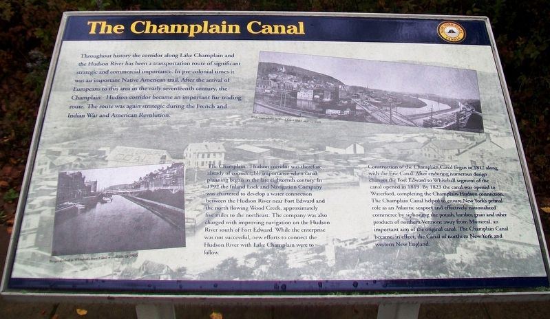 The Champlain Canal Marker image. Click for full size.