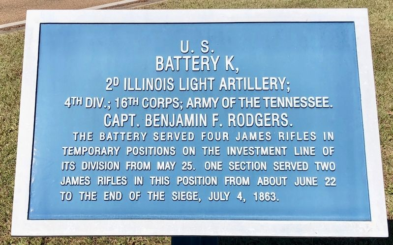 U.S. Battery K, Marker image. Click for full size.