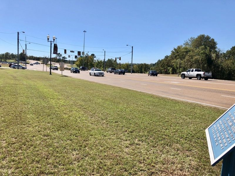 View south from marker towards Interstate 20 interchange. image. Click for full size.