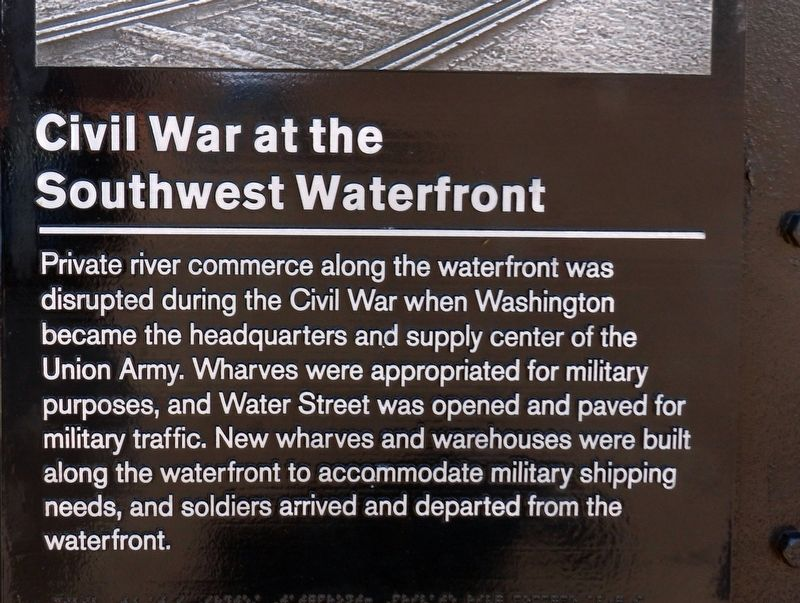 Civil War at the Southwest Waterfront Marker image. Click for full size.