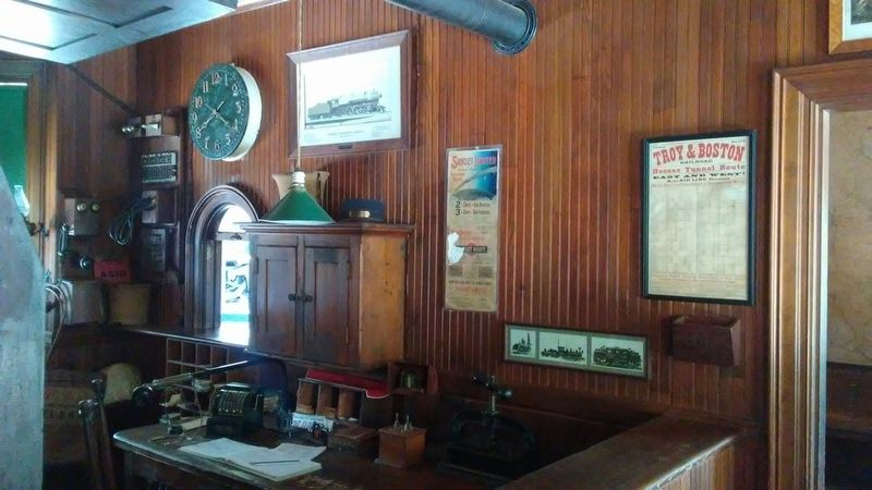 Railroad Station Interior image. Click for full size.