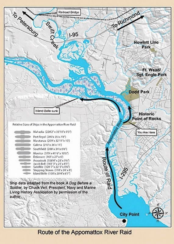 Route of the Appomattox River Raid image. Click for full size.