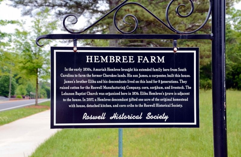 Hembree Farm Marker image. Click for full size.