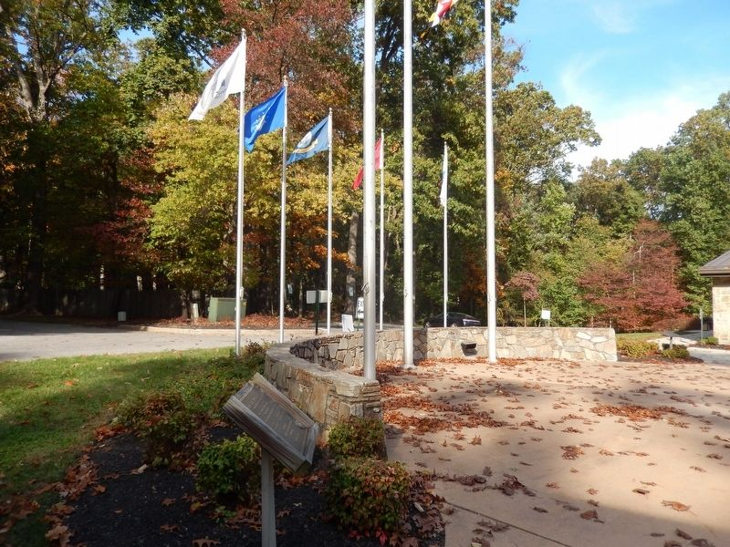 Veterans Memorial-located by the main flag poles-distant shot image. Click for full size.