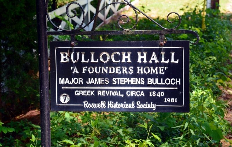 Bulloch Hall Marker image. Click for full size.
