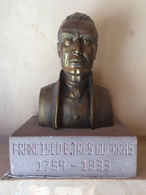 A nearby bust of Architect Francisco E. Tresguerras (1759-1833) image. Click for full size.
