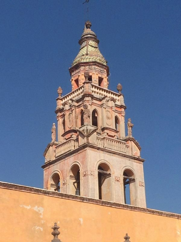 The tower of the Temple of Saint Augustine image. Click for full size.