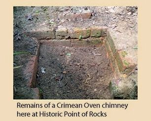 Remains of a Crimean Oven chimney here at Hitoric Point of Rocks image. Click for full size.