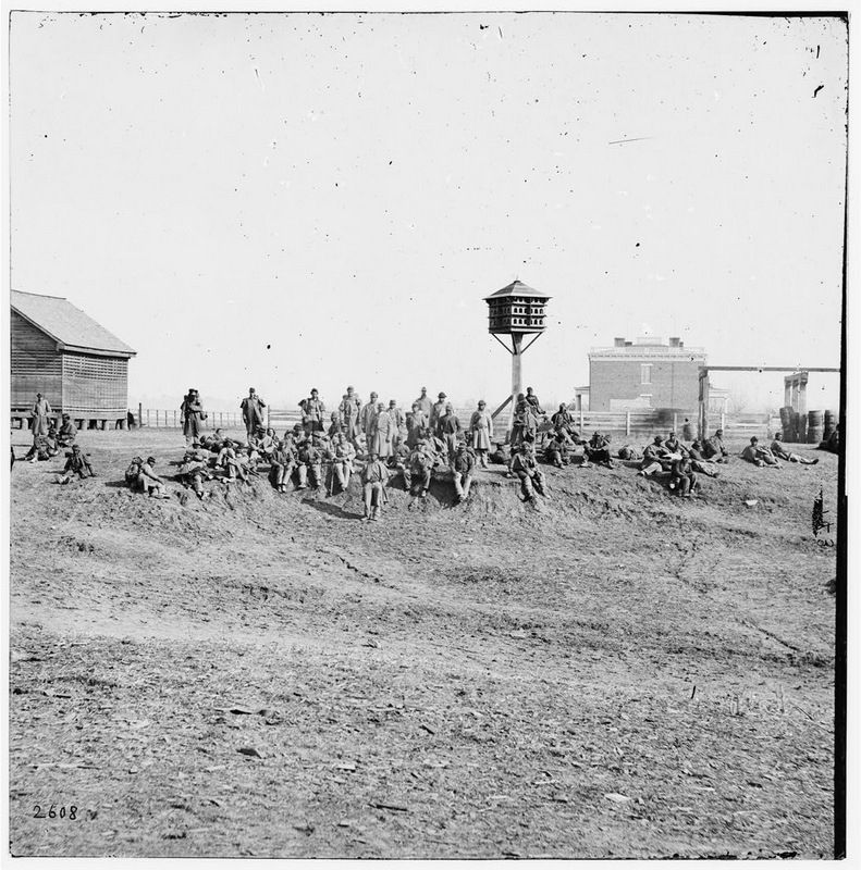 USCT's from the Army of the James at Aiken's Landing image. Click for full size.