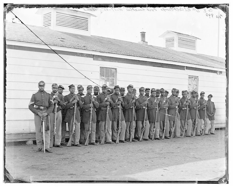 USCT's at Fort Washington image. Click for full size.
