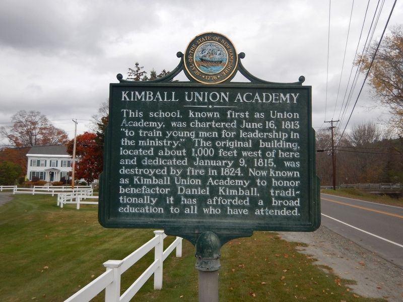 Kimball Union Academy Marker image. Click for full size.