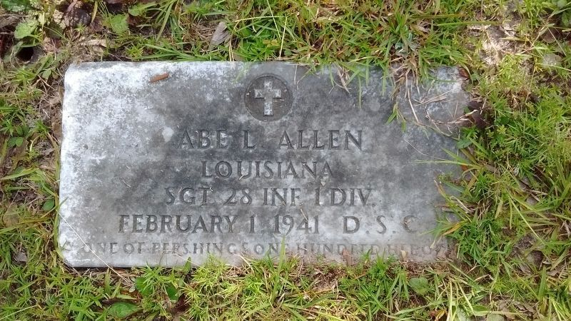 Sgt. Abe Allen Grave image. Click for full size.