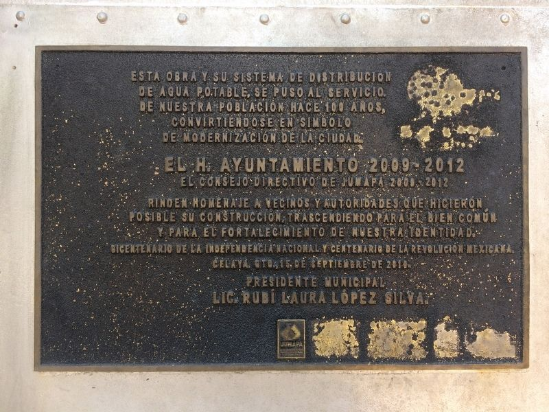 An additional Celaya's Water Tower Marker image. Click for full size.
