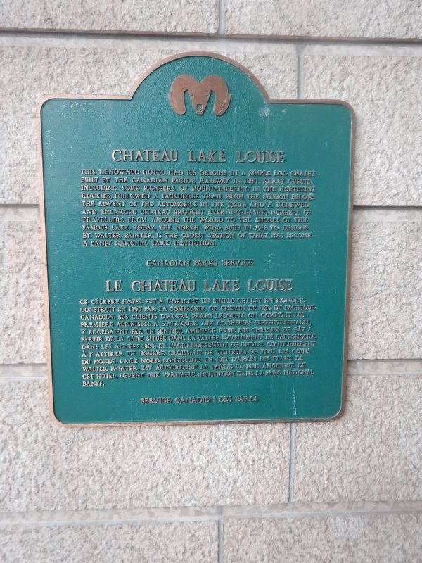 Chateau Lake Louise Marker image. Click for full size.