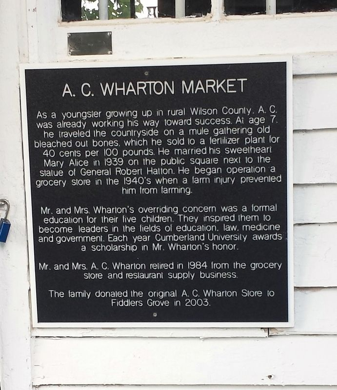 A.C. Wharton Market Marker image. Click for full size.