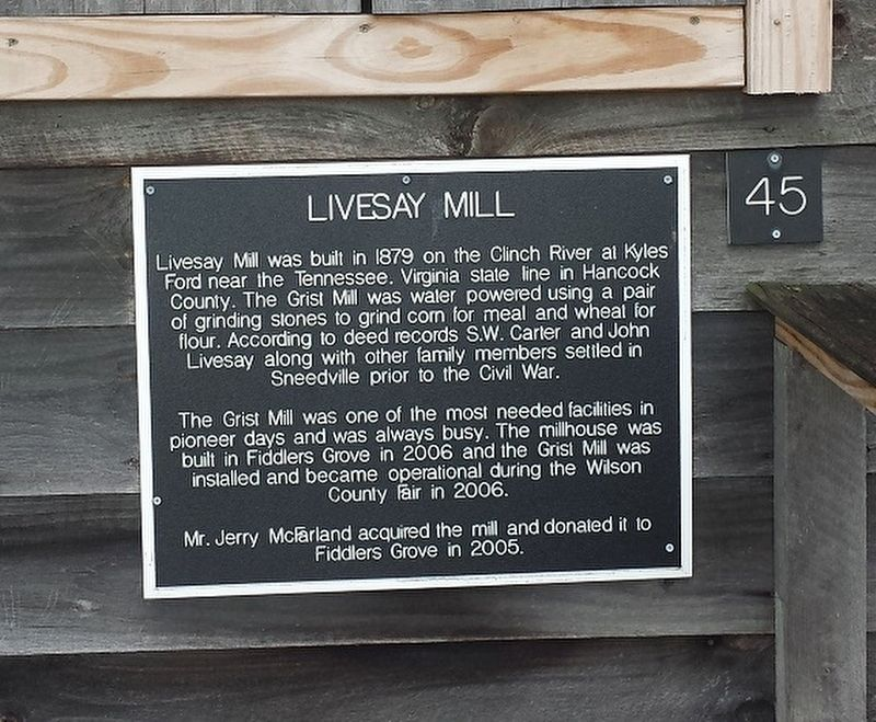 Livesay Mill Marker image. Click for full size.