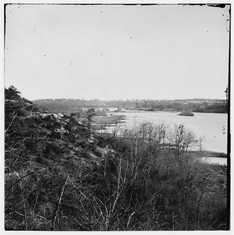 Broadway Landing, Virginia. Where Butler's troops crossed the Appomattox River image. Click for full size.