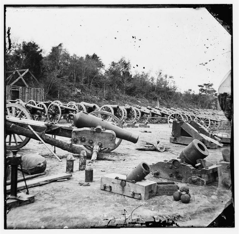 Broadway Landing, Appomattox River, Virginia. Ordnance (?) image. Click for full size.