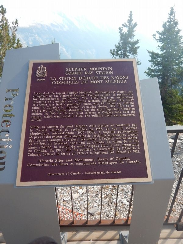 Sulphur Mountain Cosmic Ray Station Marker image. Click for full size.