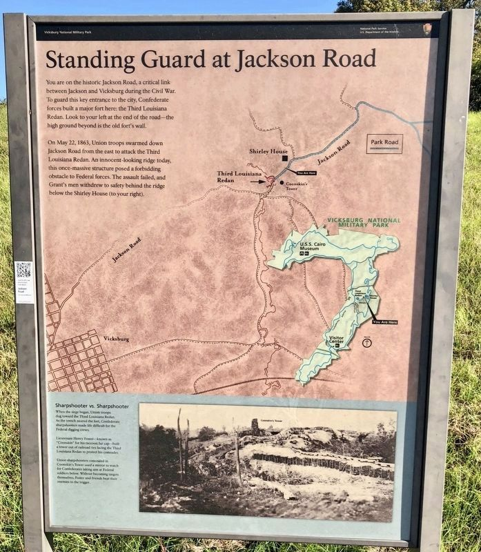 Standing Guard at Jackson Road Marker image. Click for full size.