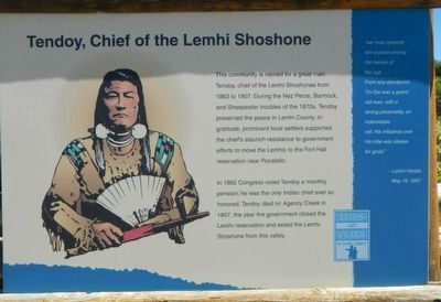 Tendoy, Chief of the Lemhi Shoshone Marker image. Click for full size.