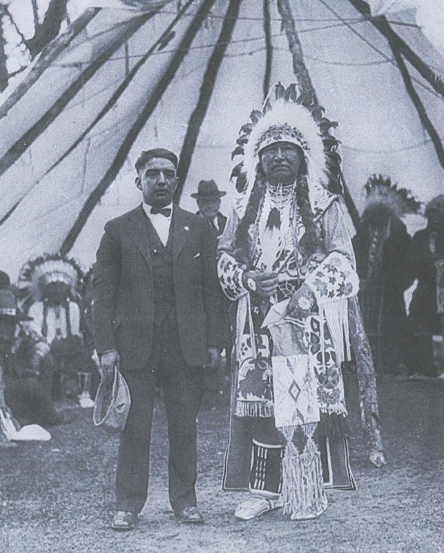 Tendoy, Chief of the Lemhi Shoshone. on right image. Click for full size.