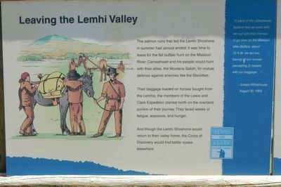 Leaving the Lemhi Valley Marker image. Click for full size.