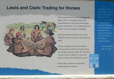 Lewis and Clark: Trading for Horses Marker image. Click for full size.