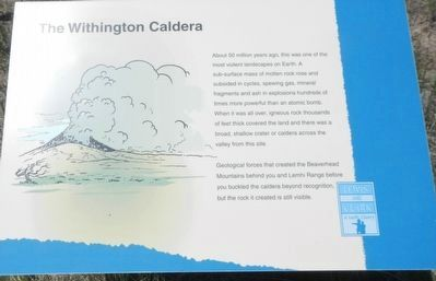 The Withington Caldera Marker image. Click for full size.