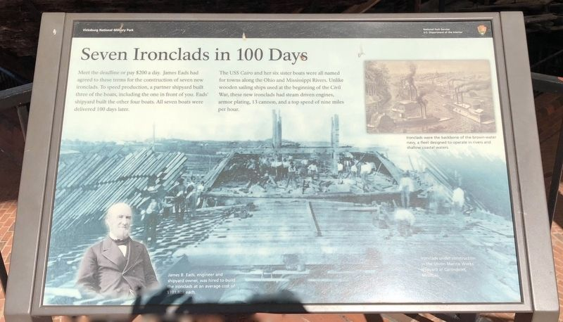Seven Ironclads in 100 Days Marker image. Click for full size.