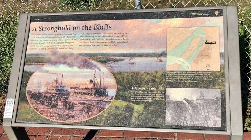 A Stronghold on the Bluffs Marker image. Click for full size.