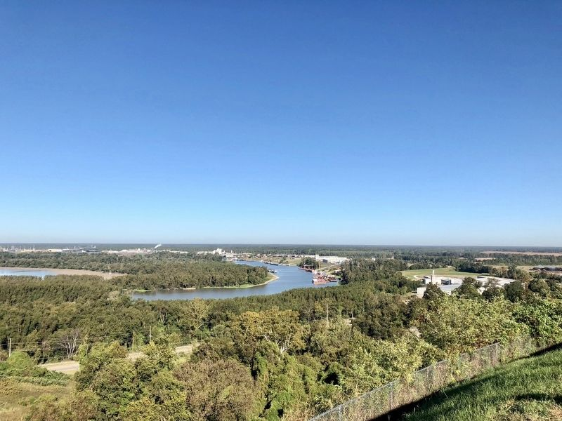 View from Fort Hill overlooking the Yazoo River and tributaries. image. Click for full size.