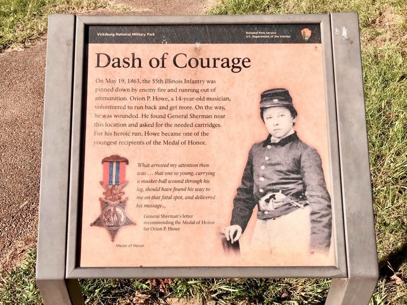 Dash of Courage Marker image. Click for full size.