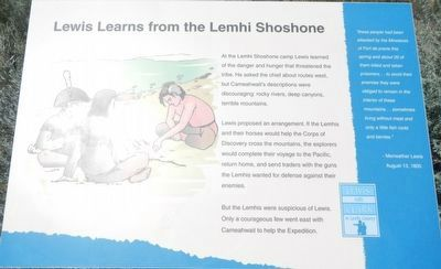 Lewis Learns from the Lemhi Shoshone Marker image. Click for full size.