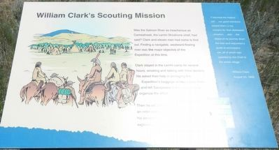 William Clark's Scouting Mission Marker image. Click for full size.
