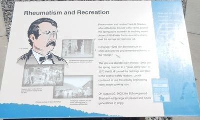 Rheumatism and Recreation Marker image. Click for full size.