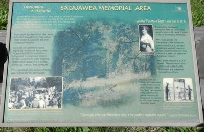 Sacajawea Memorial Area Marker image. Click for full size.