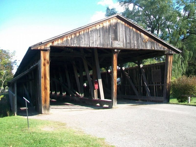 Covered Bridge and Marker image. Click for full size.