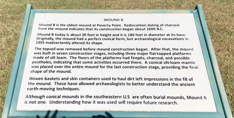 Mound B Marker image. Click for full size.