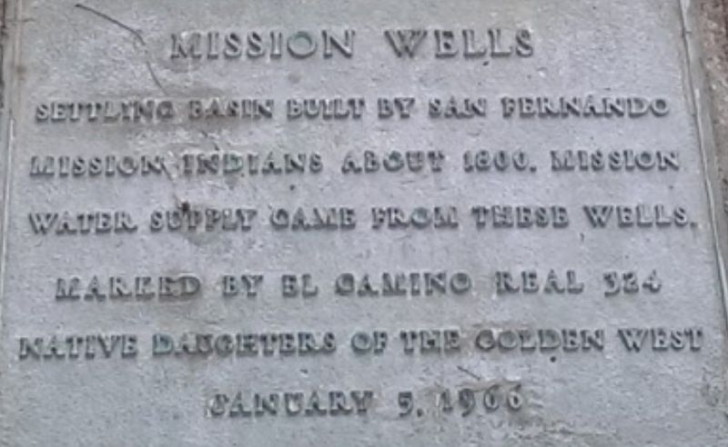 Mission Wells Marker image. Click for full size.