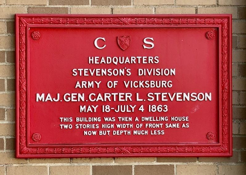 C.S. Headquarters Stevensons Divison Marker image. Click for full size.