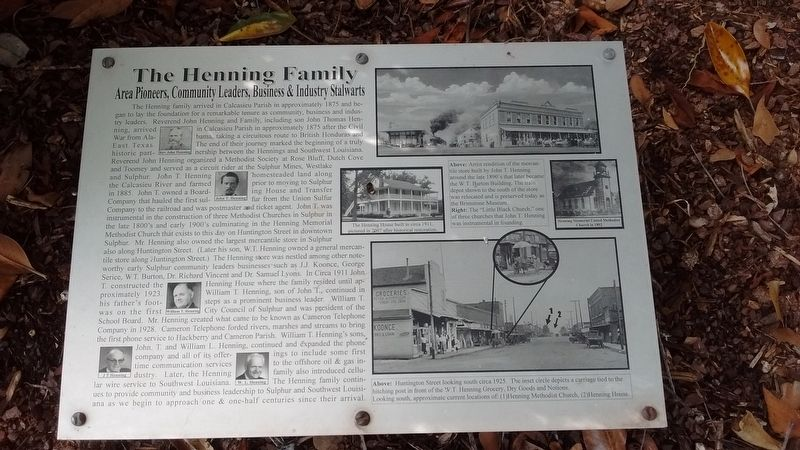 The Henning Family Marker image. Click for full size.