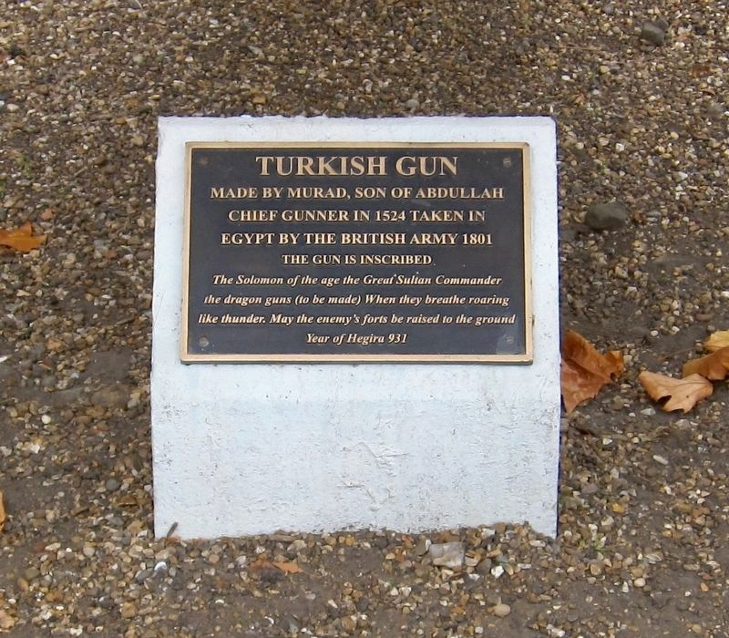 Turkish Gun Marker image. Click for full size.