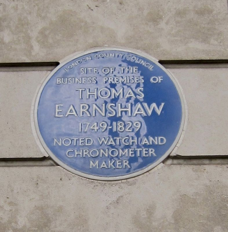 Thomas Earnshaw Marker image. Click for full size.