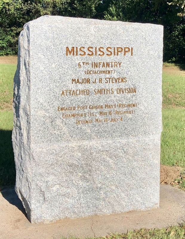 Mississippi 6th Infantry <small>(Detachment)</small> Marker image. Click for full size.