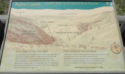 Agency Creek Marker image. Click for full size.
